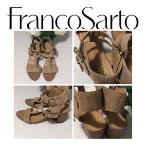 Franco Sarto  Leather Sandal Size 8.5